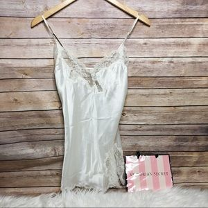 White Victoria's Secret lace slip